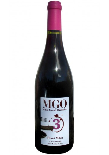 Milan MGO 3 - Vin rouge naturel - Domaine Milan - vin de france