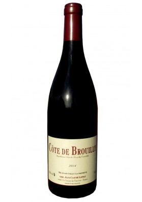 Côte de Brouilly 2014 vin rouge naturel - Jean Claude Lapalu