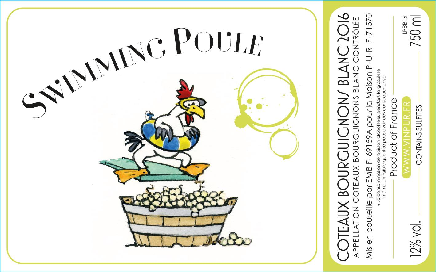 Swimming Poule - Vin Blanc Naturel - Coteaux Bourguignon - Cyril Alonso - PUR